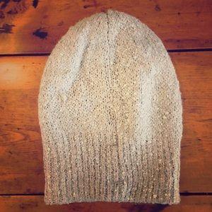c2c0cf86741b8 Nordstrom NWOT silver beanie winter hat